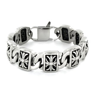 Stainless Steel Decorative Cross Bracelet