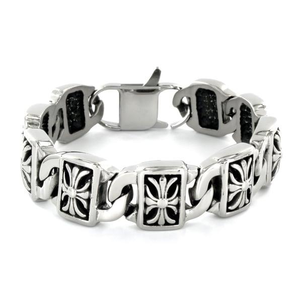 Stainless Steel Decorative Cross Bracelet
