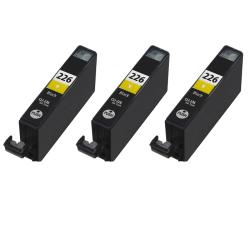 Canon CLI226Y CLI 226 Compatible Yellow Ink Cartridge (3 Pack)