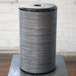 1530 LaMont Home Cambria Round Black/ Silver Hamper