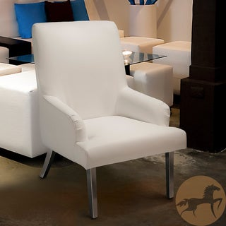 Christopher Knight Home Beluga White Leather Chair