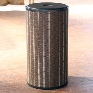 1530 LaMont Home Barton Round Black/ Brown Hamper