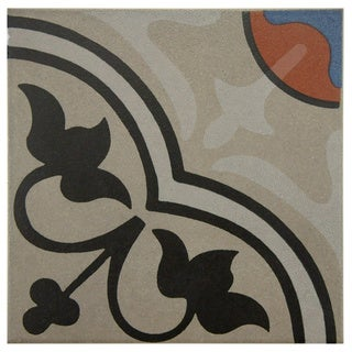 SomerTile 7x7-inch Grava Quatro And Centro Porcelain Floor and Wall Tile