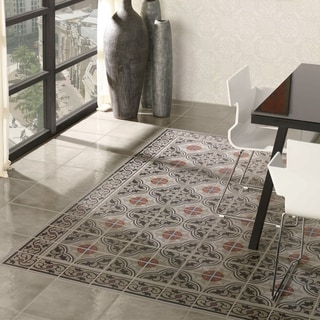 SomerTile 7x7-inch Grava Quatro and Cenefa Porcelain Floor and Wall Tile