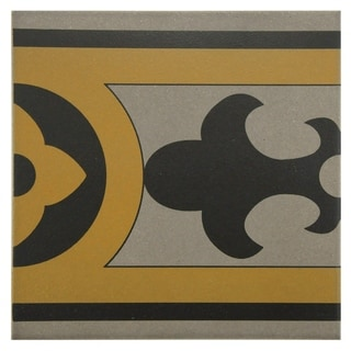 SomerTile 7x7-inch Grava Quatro CLA Cenefa Porcelain Floor and Wall Tile