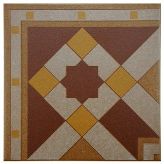 SomerTile 7x7-inch Grava Quatro Geo Esquina Porcelain Floor and Wall Tile