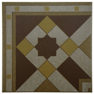 SomerTile 7x7-inch Grava Quatro Geo Esquina Ceramic Floor and Wall Tile
