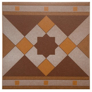 SomerTile 7x7-inch Grava Quatro Geo Cenefa Porcelain Floor and Wall Tile