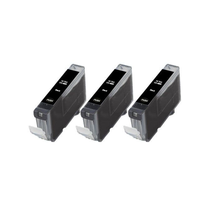 Canon CLI8-BK CLI 8 Compatible Black Ink Cartridge (Pack of 3)