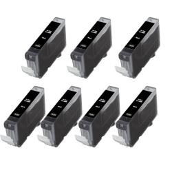 Canon CLI8-BK CLI 8 Compatible Black Ink Cartridge (Pack of 7)