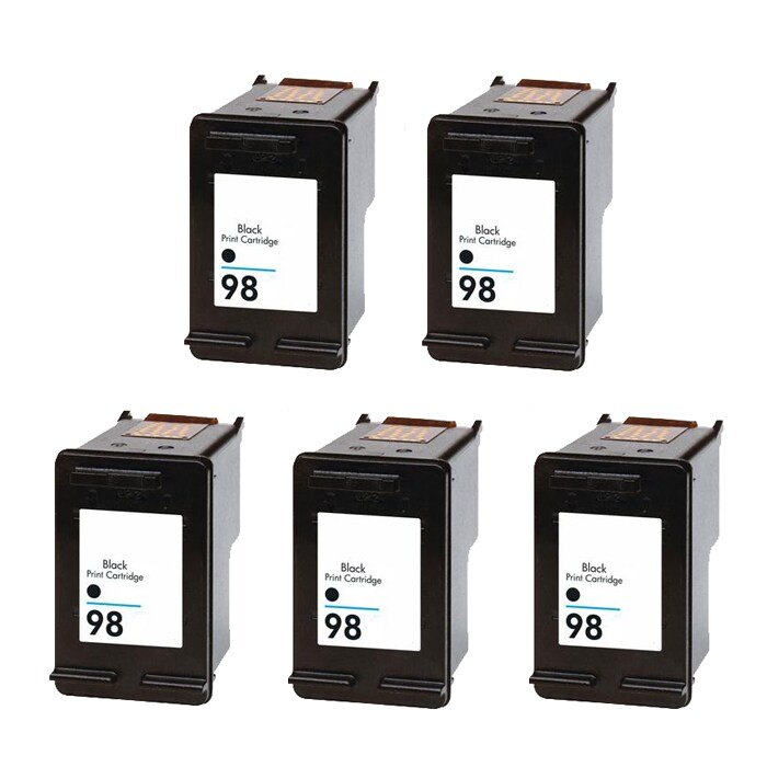 Hewlett Packard HP98 Black Ink Cartridge (Pack of 5) (Remanufactured)