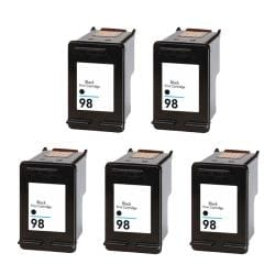 Hewlett Packard HP98 Black Ink Cartridge (Pack of 5) (Remanufactured)