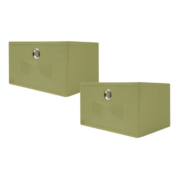 Trademark 10-inch Fabric Collapsible Storage Drawers (Set of 2)