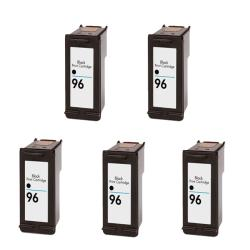 Hewlett Packard HP96 Black Ink Cartridge (Pack of 5) (Remanufactured)