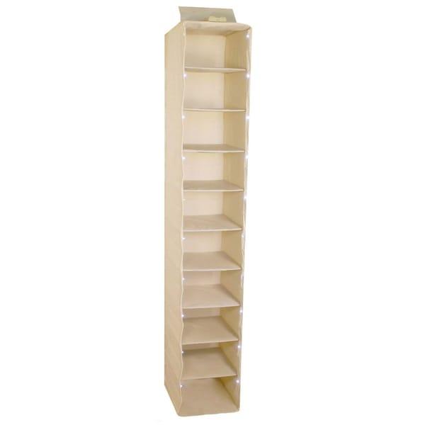 Trademark 10-Inch Collapsible Lighted Closet Organizer 10-Shelf Unit