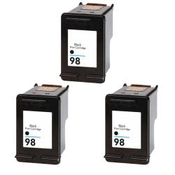 Hewlett Packard HP98 Black Ink Cartridge (Pack of 3) (Remanufactured)