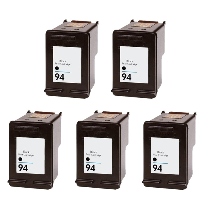 Hewlett Packard HP 94 Black Ink Cartridge (Pack of 5) (Remanufactured)
