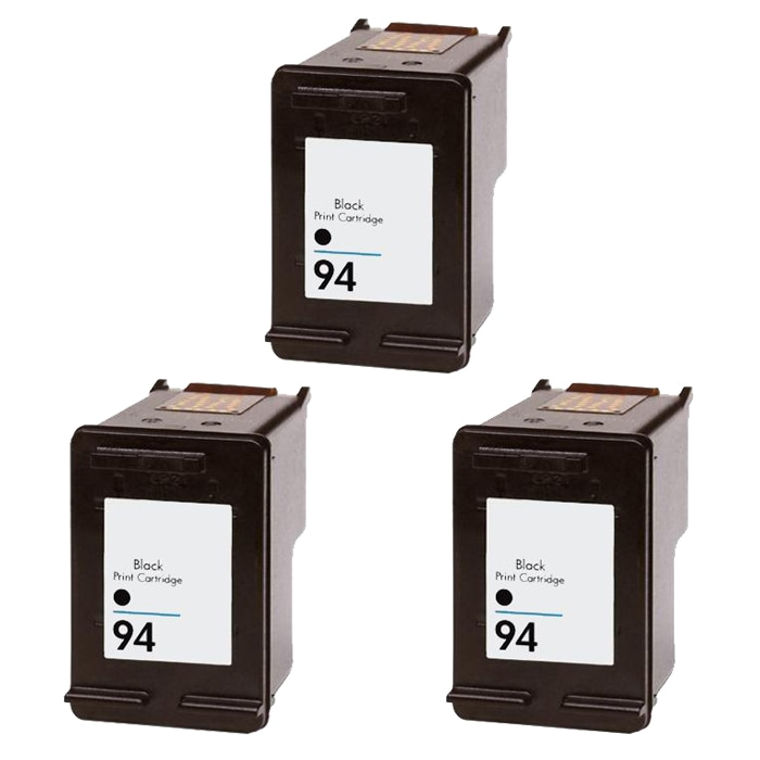 Hewlett Packard HP 94 Black Ink Cartridge (Pack of 3) (Remanufactured)