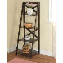 Simple Living X 4-Tier Shelf in Espresso