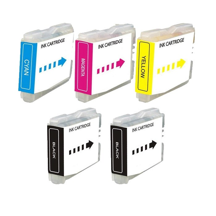 Brother LC51 Compatible Black/ Color Ink Cartridge (Pack of 5)