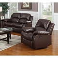 Rotunda Brown Reclining Loveseat/ Chair Set