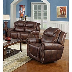 Witiker Brown Reclining Loveseat/ Chair Set