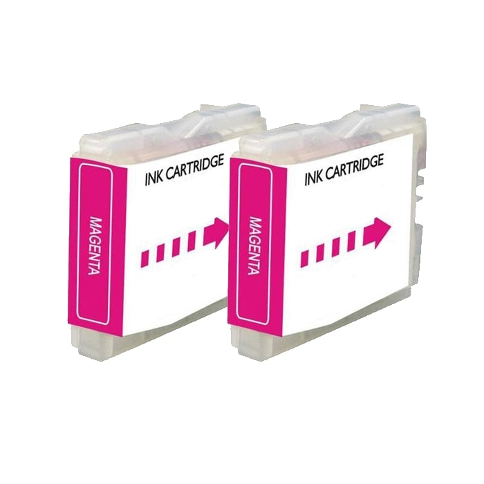 Brother LC51 Compatible Magenta Ink Cartridge (Pack of 2)