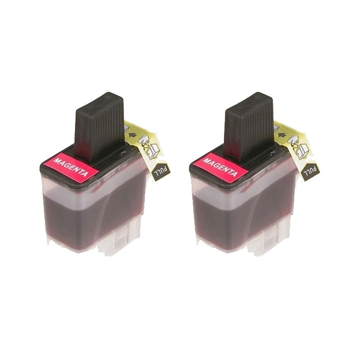 Brother LC41 Compatible Magenta Ink Cartridges (Pack of 2)