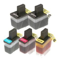 Brother LC41 Compatible Black/Color Ink Cartridge (Pack of 5)