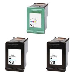 Hewlett Packard HP 95/98 Black/Color Ink Cartridges (Pack of 3) (Remanufactured)
