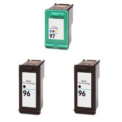 Hewlett Packard HP 96/97 Black & Color Ink Cartridge (Pack of 3) (Remanufactured)