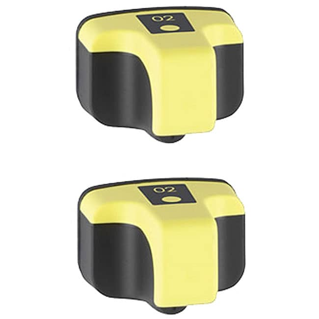 HP02 Yellow Ink Cartridge (Pack of 2) (Remanufactured)