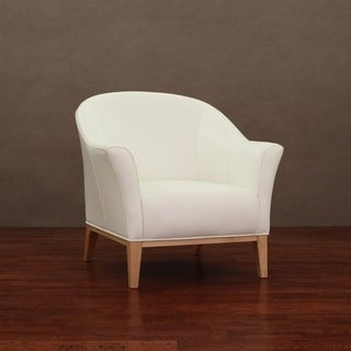 Tivoli Modern White Leather Chair