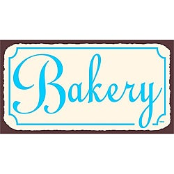 Vintage Metal Art 'Bakery' Tin Kitchen Wall Sign