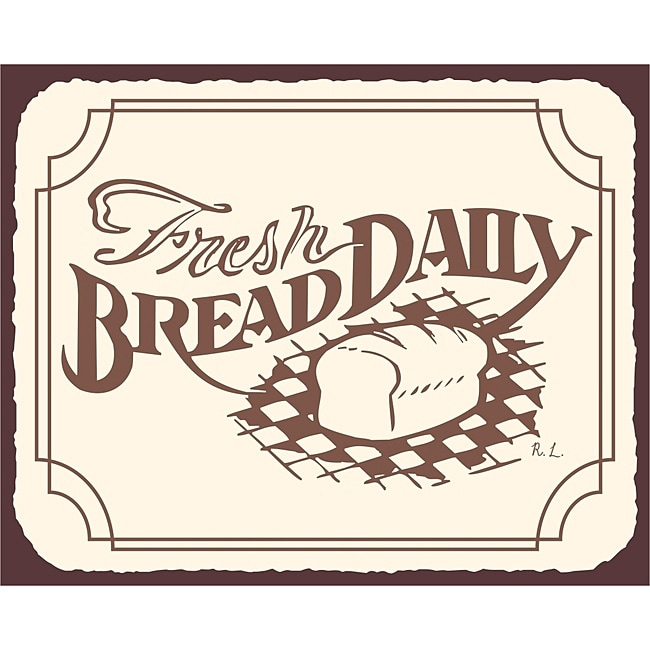 Fresh Bread Daily Bakery Wall Decor Vintage Metal Art