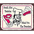 Vintage Metal Art 'Fresh Hot Pastries' Decorative Tin Kitchen Wall Sign