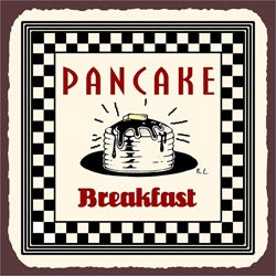 Vintage Metal Art 'Pancake Breakfast' Decorative Tin Kitchen Sign