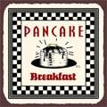 Vintage Metal Art 'Pancake Breakfast' Decorative Tin Kitchen Sign