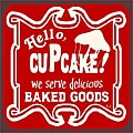 Vintage Metal Art 'Hello Cupcake' Decorative Tin Kitchen Sign