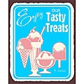 Vintage Metal Art 'Enjoy Our Tasty Treats' Decorative Tin Kitchen Sign