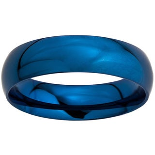 Colored Stainless Steel Polished Domed Ring