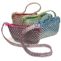 Unique and Colorful 'Serinita' Mexican Recycled Soda Top Bag