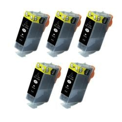 Canon PGI-220 Compatible Black Ink Cartridge (Pack of 5)