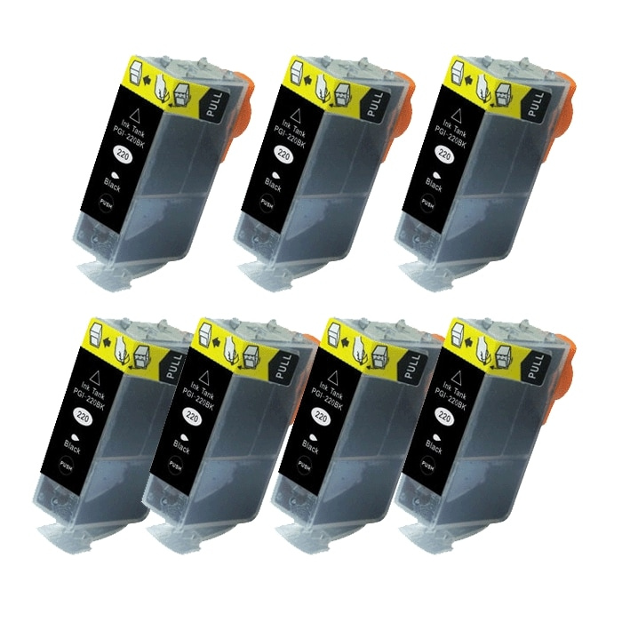 Canon PGI-220 Black Ink Cartridge (Pack of 7) (Remanufactured)