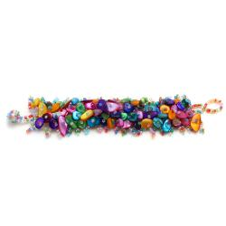 Rainbow Mother of Pearl Bead Weave Bracelet
