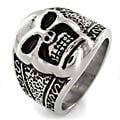 West Coast Jewelry Stainless Steel Cast Skull Ring