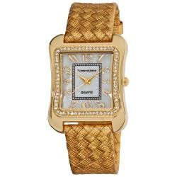 Vernier Women's Goldtone Braid Square Case Watch