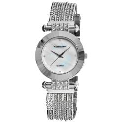 Vernier Women's Silver Tone Elegant Chain Bracelet Watch