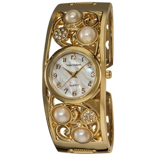 Vernier Women's Gold Vine Bangle Watch