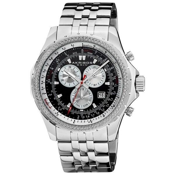 Akribos XXIV Men's Large Chronograph Bracelet Watch